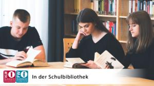 Schüler*innen beim Lesen der Schulbibliothek