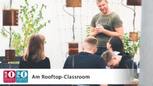 Unterricht unter freiem Himmel am Rooftop-Classroom